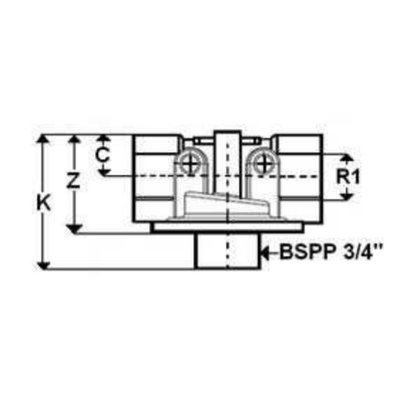 Hydrauliek aanzuigfilter 3/4'' BSP, 10µ, 100 L/min