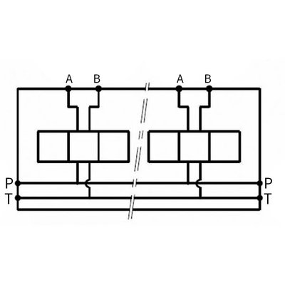 NG6 voetplaat, meervoudige zijaansluiting