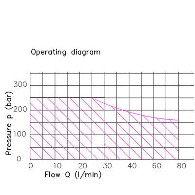 1Z80 1 sectie stuurventiel 80 L/min 12V elektrisch