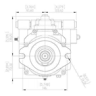 Gesloten Plunjerpomp - Verstelling elektrisch proportionaal met terugkoppeling 21L/min