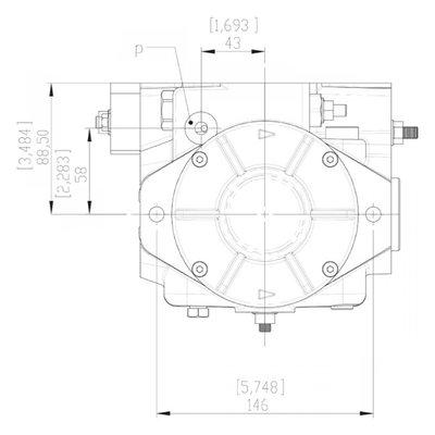 Gesloten Plunjerpomp - Verstelling hydraulisch proportioneel zonder terugkoppeling 21L/min