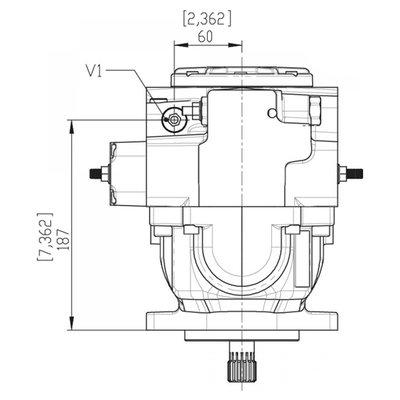 Gesloten Plunjerpomp - Verstelling hydraulisch proportioneel zonder terugkoppeling 46L/min