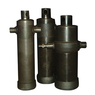 8 traps telescoopcilinder, Ø46-165mm, slag 1940mm, 180 bar met oog