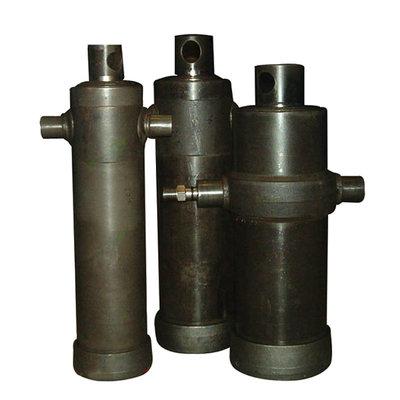 6 traps telescoopcilinder, Ø68-165mm, slag 2225mm, 180 bar met oog