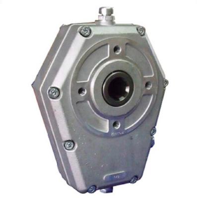 Tandwielkast hoog koppel 20 kW ratio 1:3 voor motor SAE-flens en 25mm as
