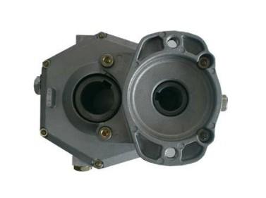 Tandwielkast standaard koppel 10 kW ratio 1:1,5 voor motor SAE-flens en 25mm as