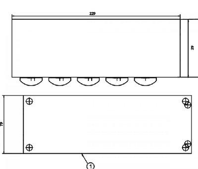 Retourblok verdeelblok 5x3/4
