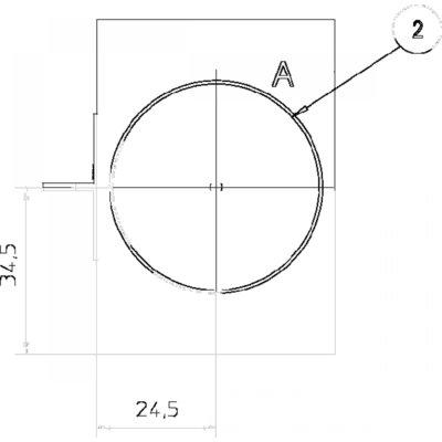 Retourblok verdeelblok 3x3/4