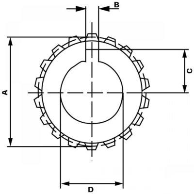 Splinebus 25x22-14;1:8 spie 2,4