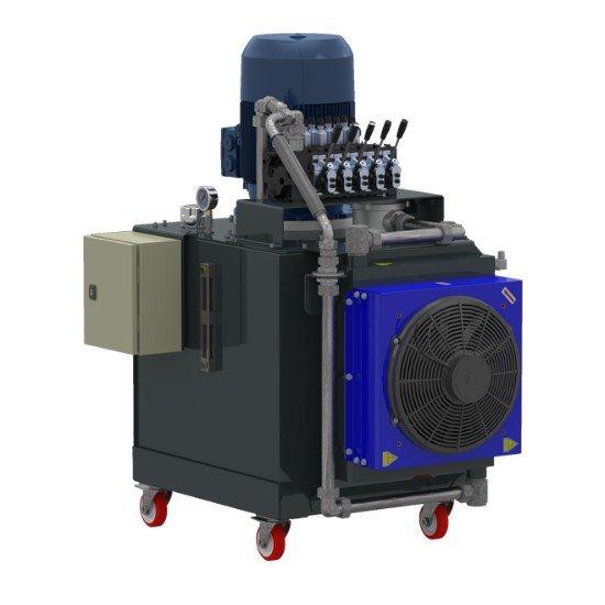 Afbeelding van 3 fase elektrisch hydraulische power unit 200 liter tank