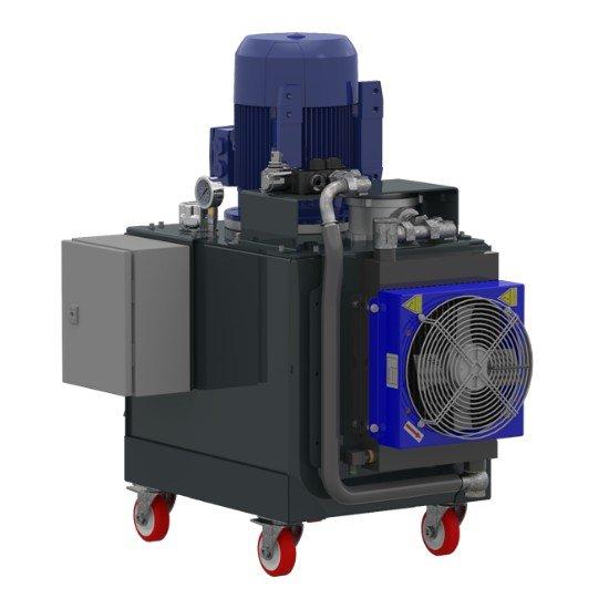 Afbeelding van 3 fase elektrisch hydraulische power unit 130 liter tank