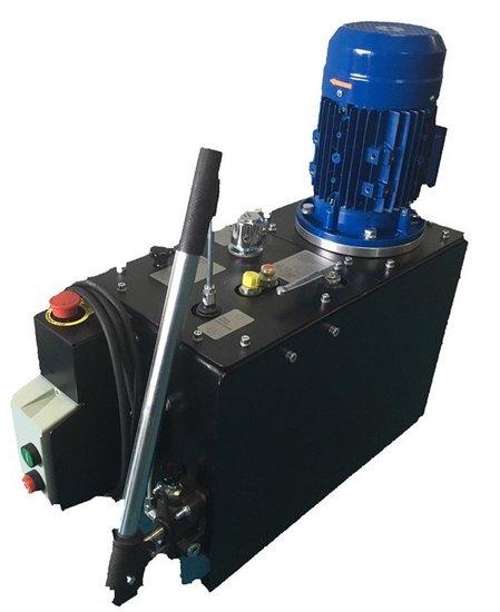 Afbeelding van 1 fase elektrisch hydraulische power unit 35 liter tank 230V
