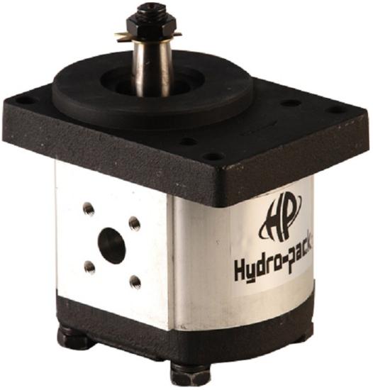 Afbeelding van 10 cc tandwielpomp rechts met 1:5 conische as, pasrand 80 mm