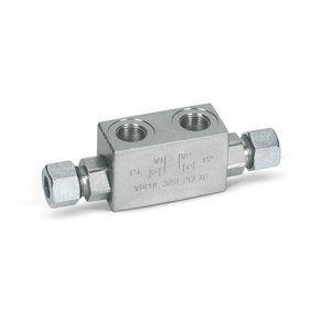 """Afbeelding van Dubbele hydraulische gestuurde terugslagklep VBPDE 1/2"""" L2 CC"""