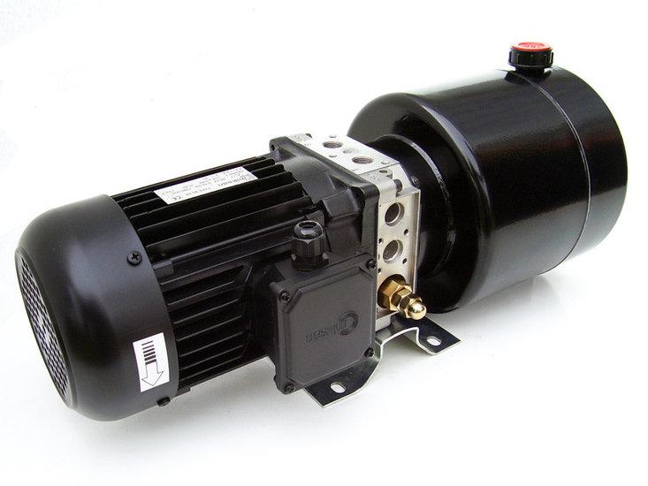 Afbeelding van 230V 1,1kw hydrauliek powerpack enkelwerkend circuit