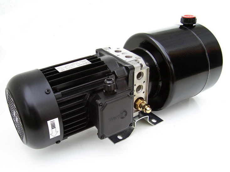 Afbeelding van 400V 1,5kw hydrauliek powerpack enkelwerkend circuit
