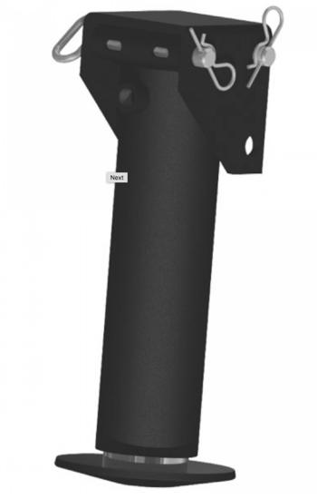Afbeelding van Steunpoot cilinder cpl. 65-250