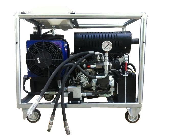 Afbeelding van Hydrauliek aggregaat powerpack met 22pk V-twin benzinemotor