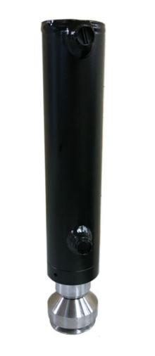 Afbeelding van 2 traps Telescoopcilinder met scharnierende RVS voet