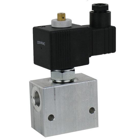 """Afbeelding van 2/2 hydrauliek klep NC double lock, 3/8"""" BSP, 12V"""
