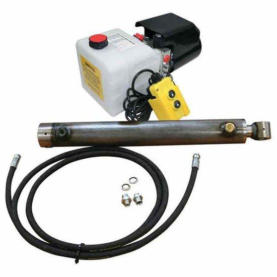 Afbeelding van 12V hydraulische powerpack trailer/kipper set