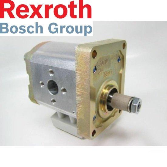 Afbeelding van 14 cc Bosch Rexroth tandwielpomp rechts met 1:8 conische as