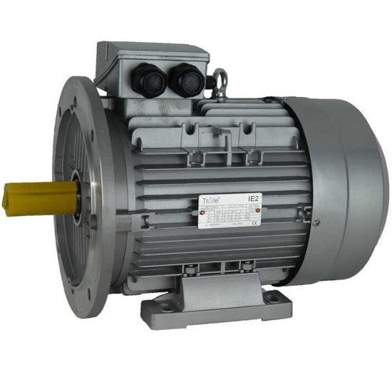 Afbeelding van IE2 Elektromotor 3 kW, 230/400 Volt Voetflensbevestiging B3-B5, 1500 RPM
