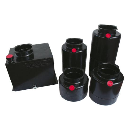 Afbeelding van Mini powerpack tank staal Verticaal 25 liter