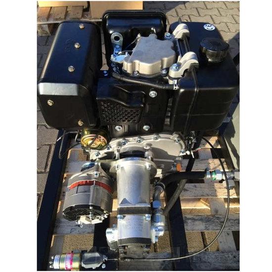 Afbeelding van PTM440DPRO dieselmotor met voor gemonteerde tandwielpomp pompgroep 2 en 40A dynamo