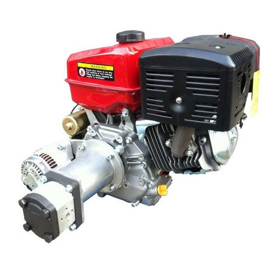 Afbeelding van PTM390PRO benzinemotor (e-start) met voor gemonteerde tandwielpomp pompgroep 2 en 40A dynamo