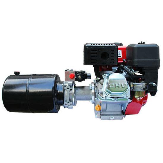 Afbeelding van 4,8 kW hydrauliek powerpack met benzinemotor dubbelwerkend circuit