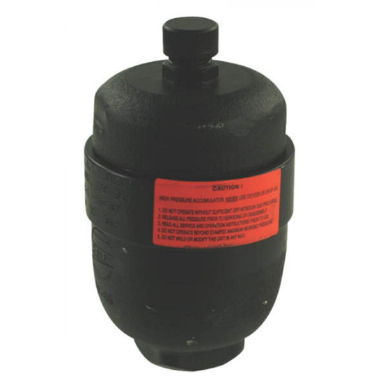 Afbeelding van Saip membraan accumulator geschroefd, type L0.35 150-250 bar vuldruk st. 100 bar M18x1,5 aansluiting 0,35l