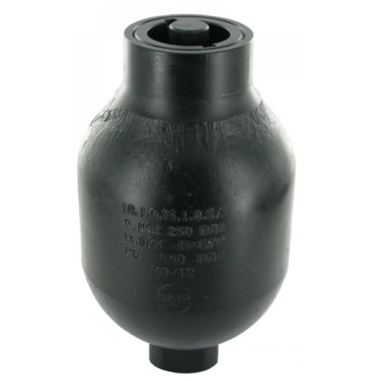 Afbeelding van Saip balgaccumulator type LA0.75 145-270 bar vuldruk st. 150 bar M18x1,5 aansluiting 0,75l