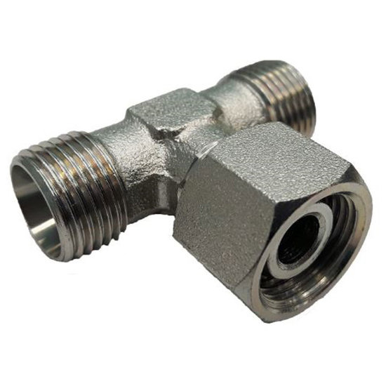 Afbeelding van Instelbare T-adapter met o-ring 18L (M26x1,5) (T-uitvoering)
