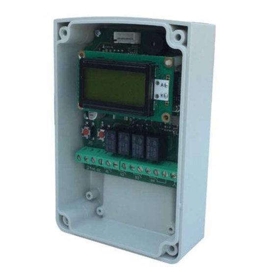 Afbeelding van Ontvanger 433 Mhz - 4 relais met display (500 zenders)