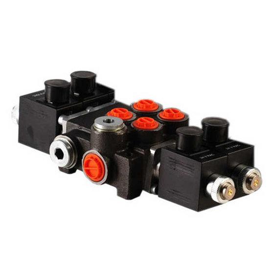 Afbeelding van 2Z80 2 sectie stuurventiel 80 L/min 12V elektrisch