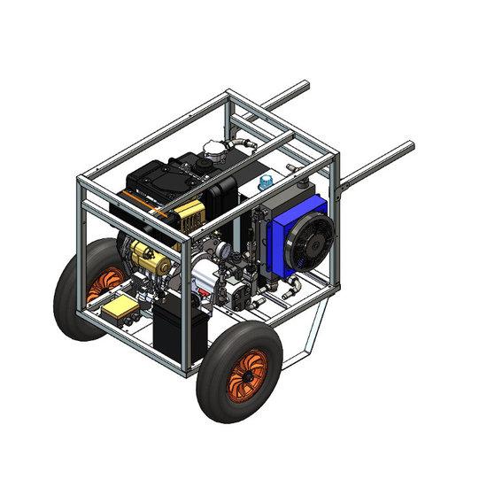 Afbeelding van Hydrauliek aggregaat powerpack met 10 pk dieselmotor