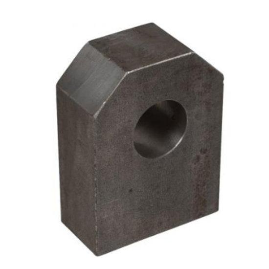 Afbeelding van HM5 gaffel bevestiging met binnendiameter 25,25 mm voor cilinder met boring Ø60 mm