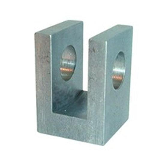 Afbeelding van HM5 lasbare vork met binnendiameter 16,20 mm voor cilinder met boring Ø32 mm en Ø40 mm