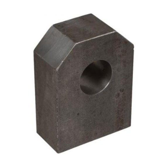 Afbeelding van HM5 gaffel bevestiging met binnendiameter 25,25 mm voor cilinder met boring Ø70 mm