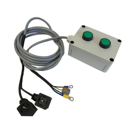 Afbeelding van 1 sectie knoppenkast 230V voor dubbelwerkende powerpack