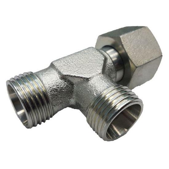 Afbeelding van Instelbare T-adapter met o-ring 10S (M18x1,5) (L-uitvoering)