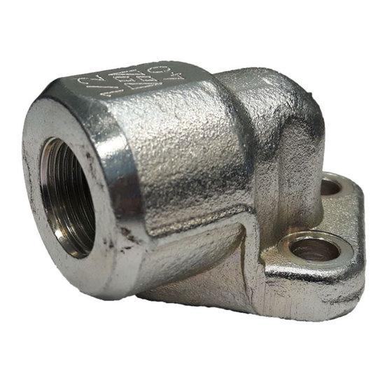 Afbeelding van Pompflens haaks, 3 gaats 3/8'' BSP (30mm, gr. 1)