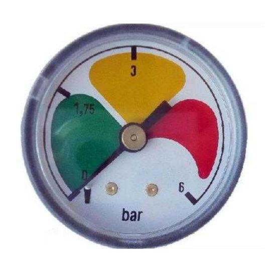 Afbeelding van Vuilindicator met achteraansluiting 0-6 bar 1/8'' BSP