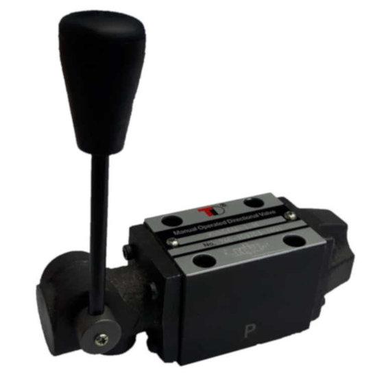 Afbeelding van NG6 handbediend Cetop 4/2 stuurventiel, PA verbonden, BT verbonden