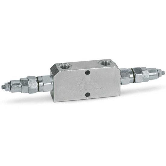 """Afbeelding van Dubbele hydraulische gestuurde terugslagklep VBCD 3/8"""" DE CC"""